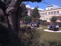 pause repas sur le campus d'Espace Forma